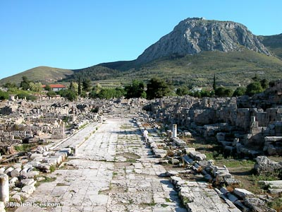 Corinth-Lechaion-Road-from-north,-tb050803125-bibleplaces