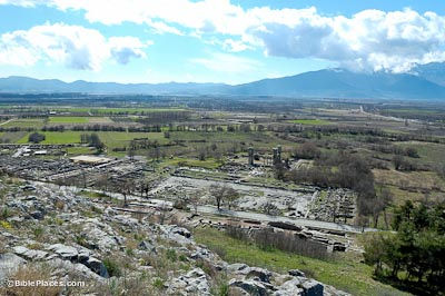 Philippi-excavations-from-north,-tb031106652-bibleplaces